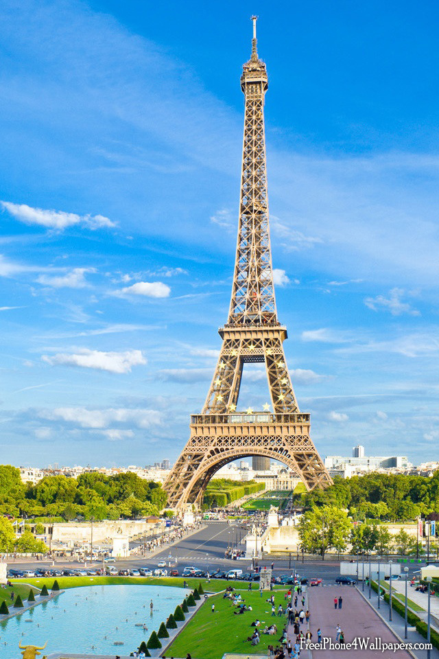 HD iPhone 4 Eiffel Tower Wallpaper and Background iPhone 4 and 4S