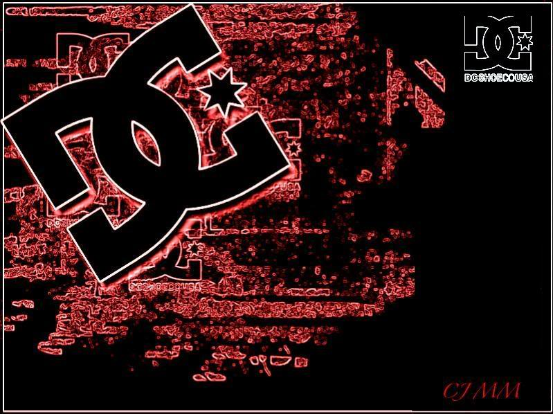 DC Shoes Logo in Corner Black and Red Wallpaper HD Desktop