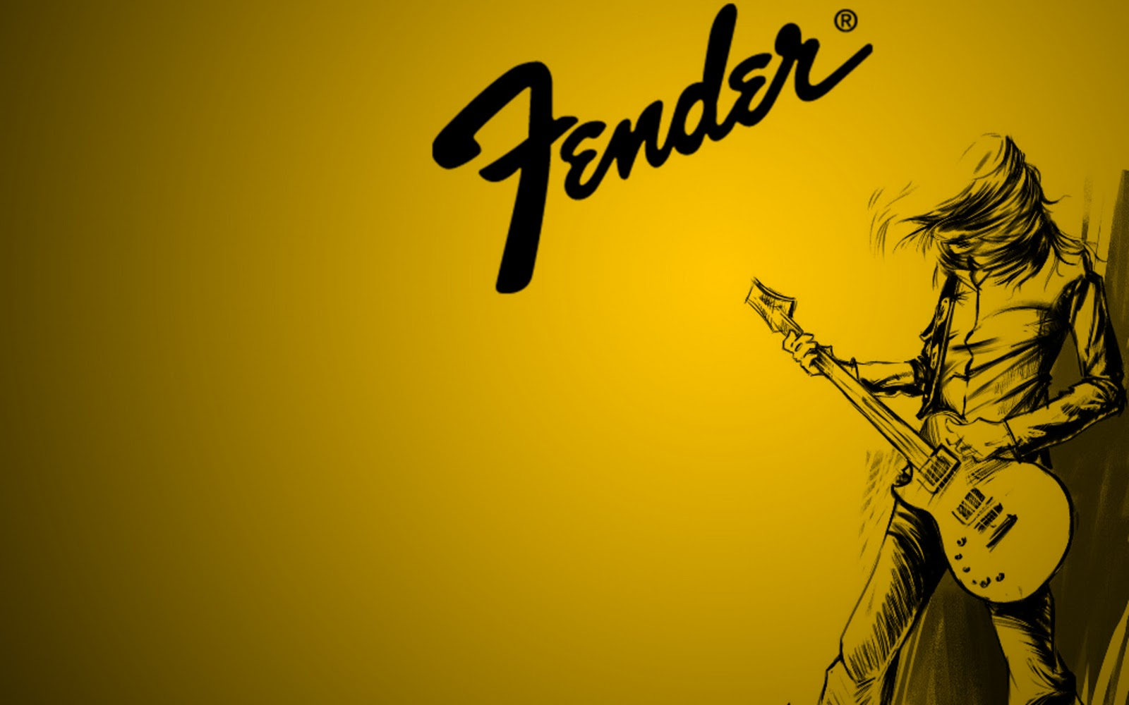 Fender Guitar Yellow Wallpapers For Desktop HD Wallpapers in Music