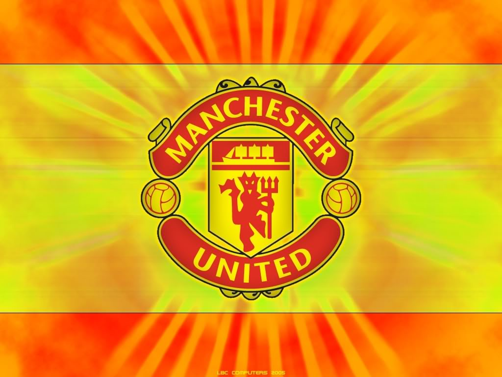 logo manchester united Manchester United FC Logo Yellow Wallpaper for ...