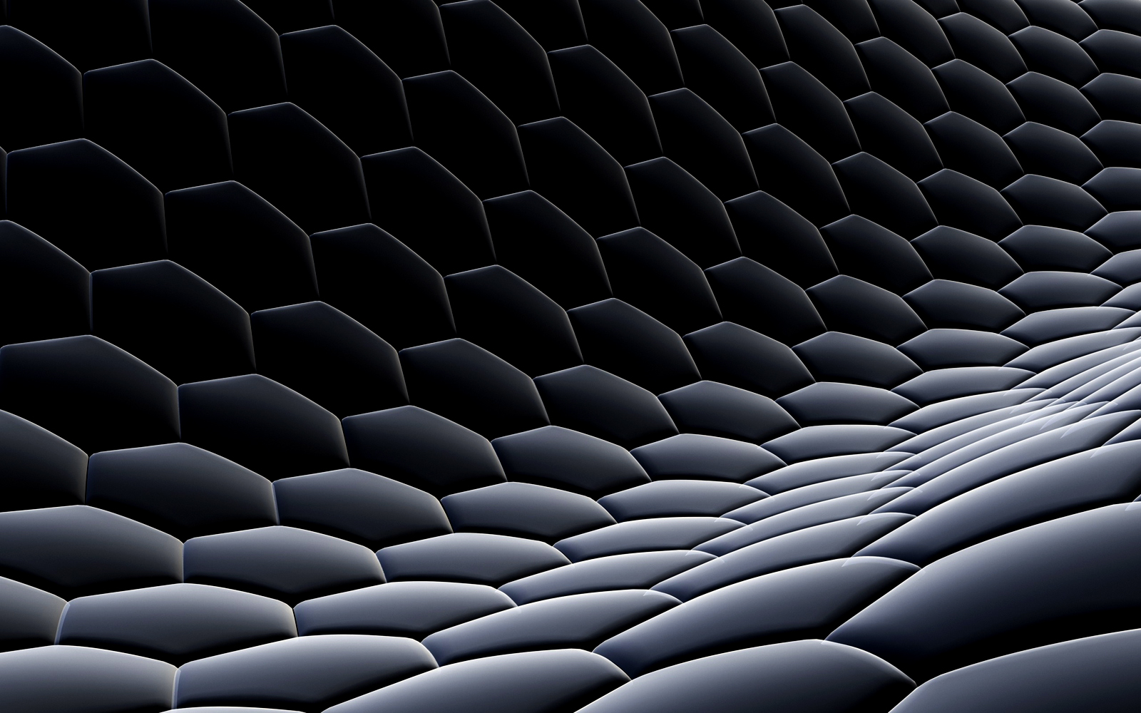 3D Hexagonal Dark HD Wallpapers Widescreen for Desktop PC