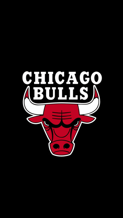 Chicago Bulls Logo Black Backbround for iPhone 5 HD Wallpapers