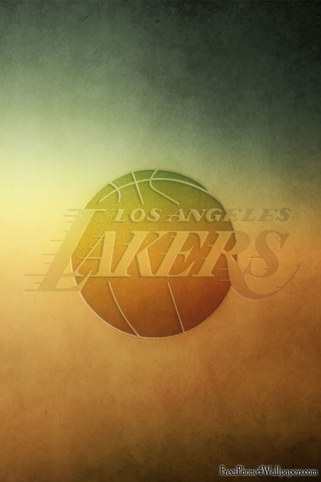 Los Angeles Lakers NBA Team Logo Colorful Wallpapers HD For iPhone 4 and 4s