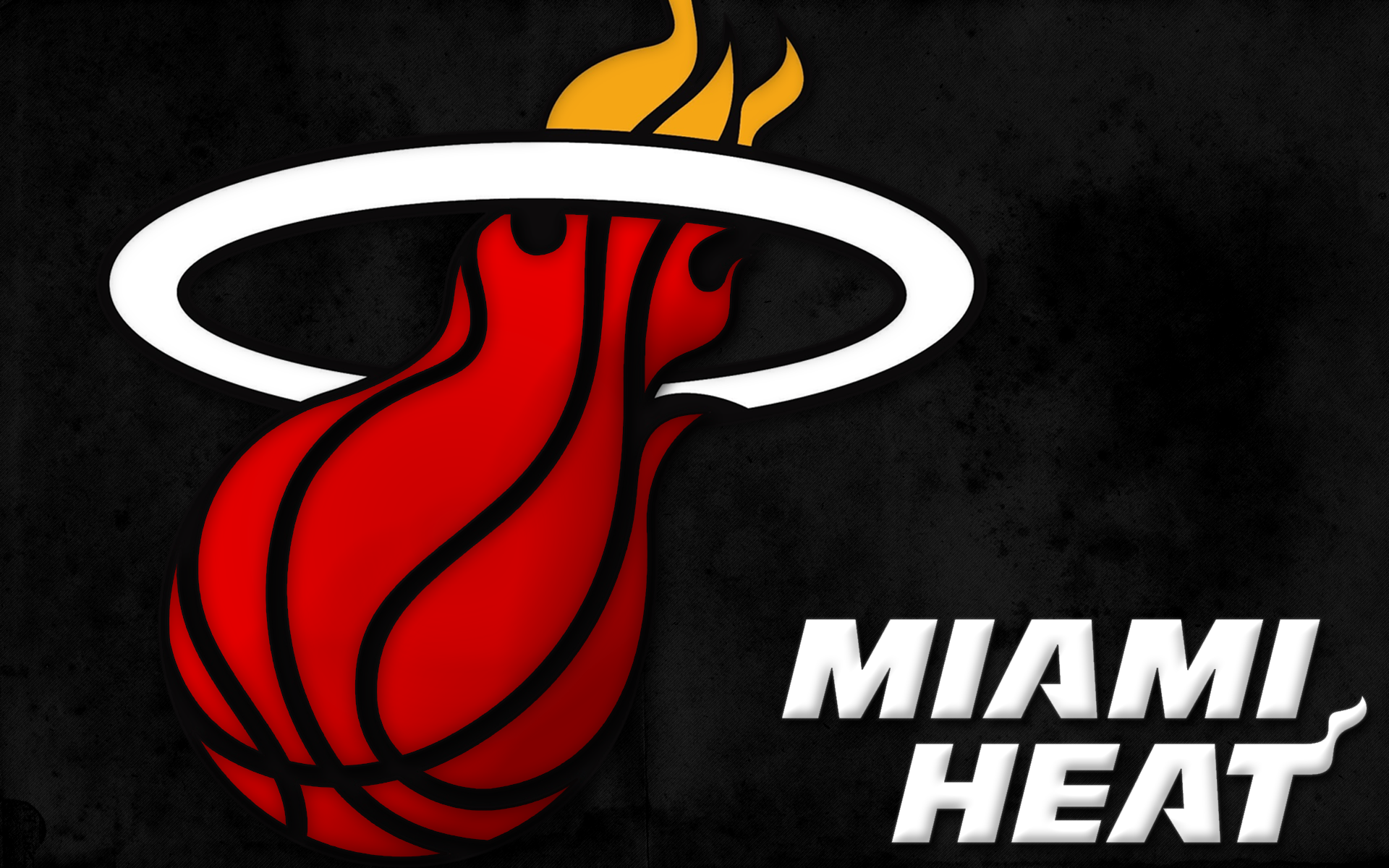 Miami Heat Basketball NBA Team Black Wallpapers HD Widescreen Desktop Background