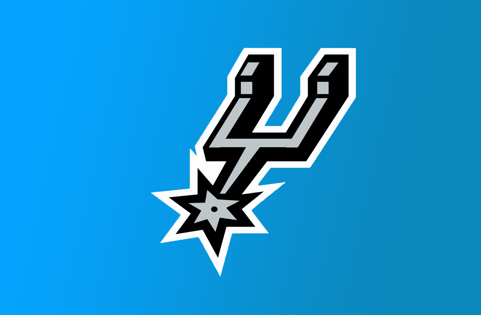 NBA Team San Antonio Spurs Logo Blue Background Wallpaper HD Desktop PC
