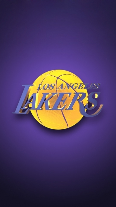 NBA Los Angeles Lakers Team Logo Purple Background HD For IPhone 5