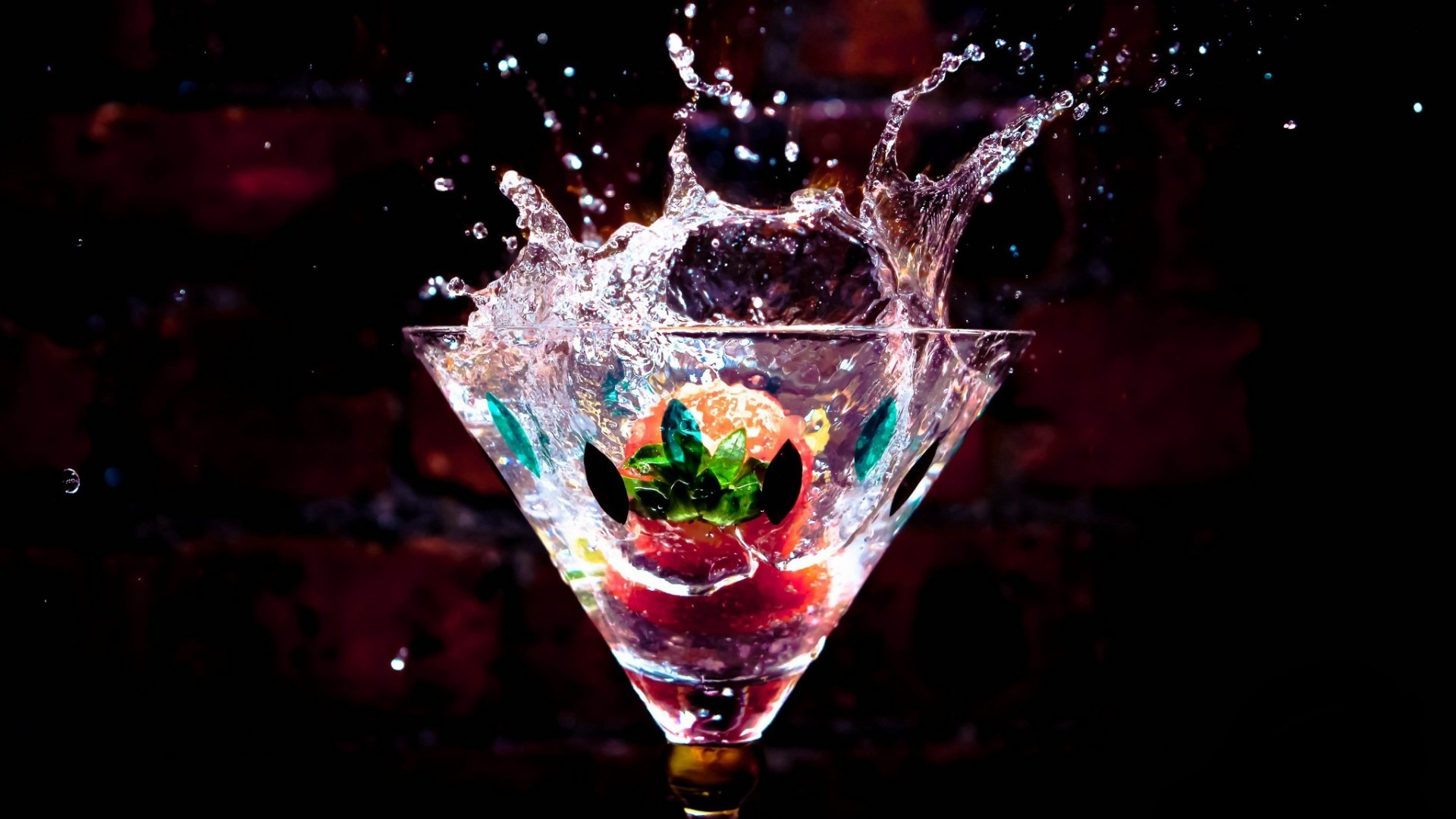 Cocktail Splash 1920x1080 Wallpaper HD Desktop Widescreen High Quality Image