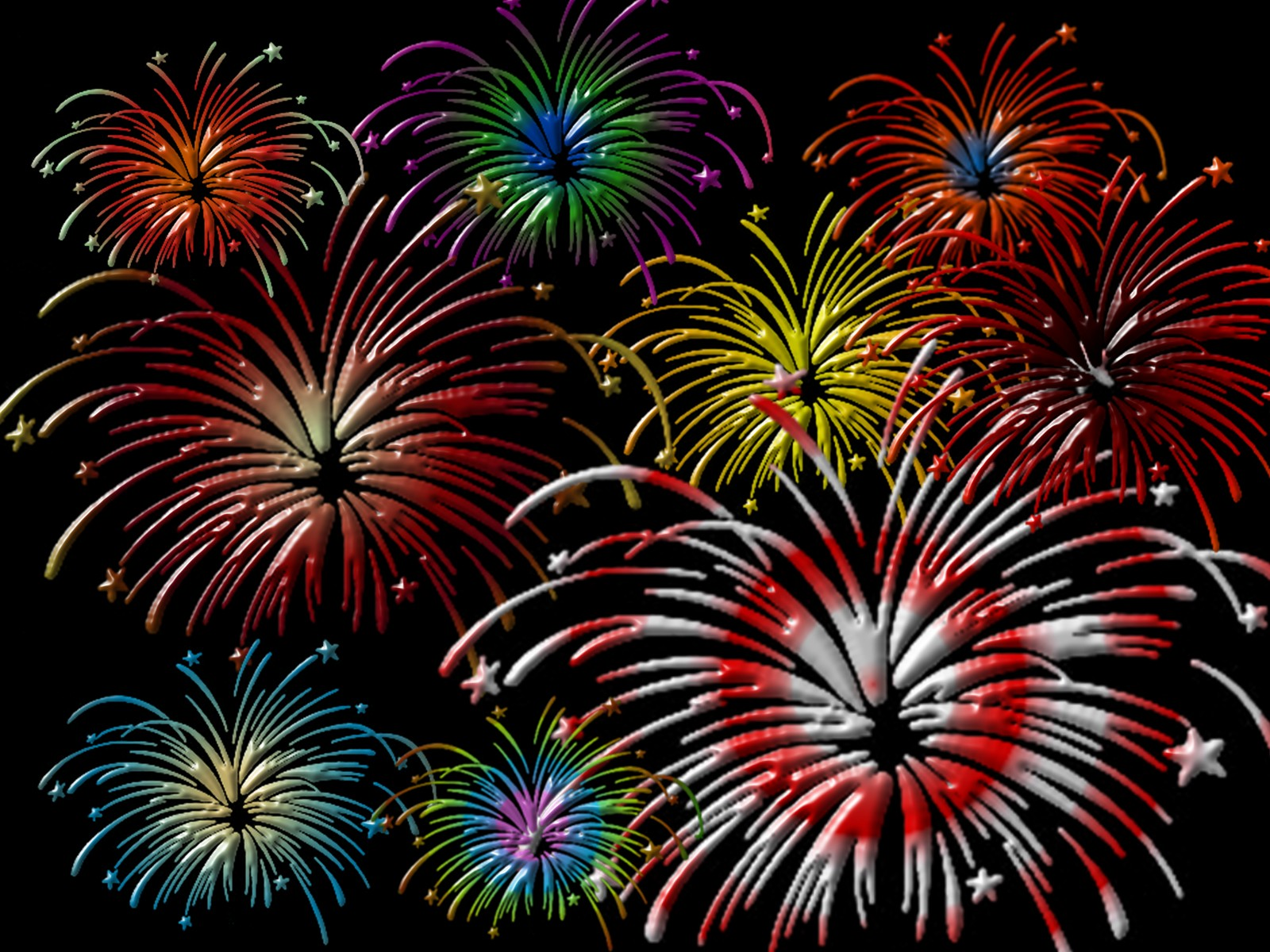 Fireworks Pictures In Black Backgrouond HD Wallpapers PC
