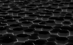 Glowing Black Hexagonal Prisms 3D HD Wallpapers 1920x1200px Desktop Wide