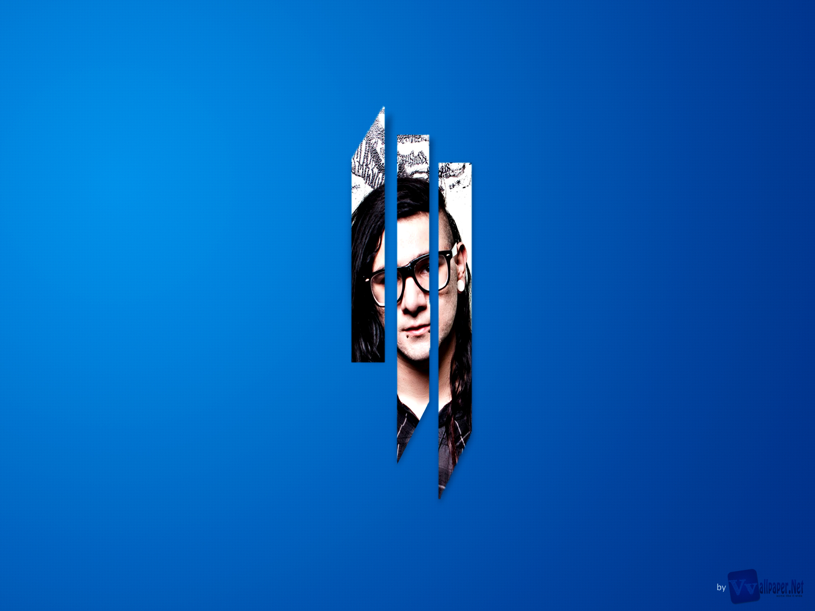 DJ Skrillex Photo Gallery 3D Blue Background HD Music Is A Awesome Desktop Wallpapers