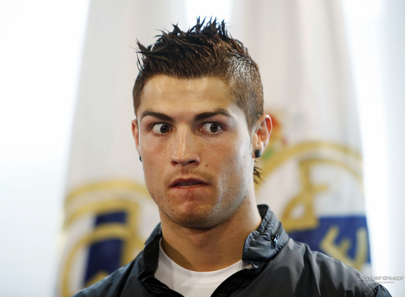 Cristiano Ronaldo Real Madrid weird look