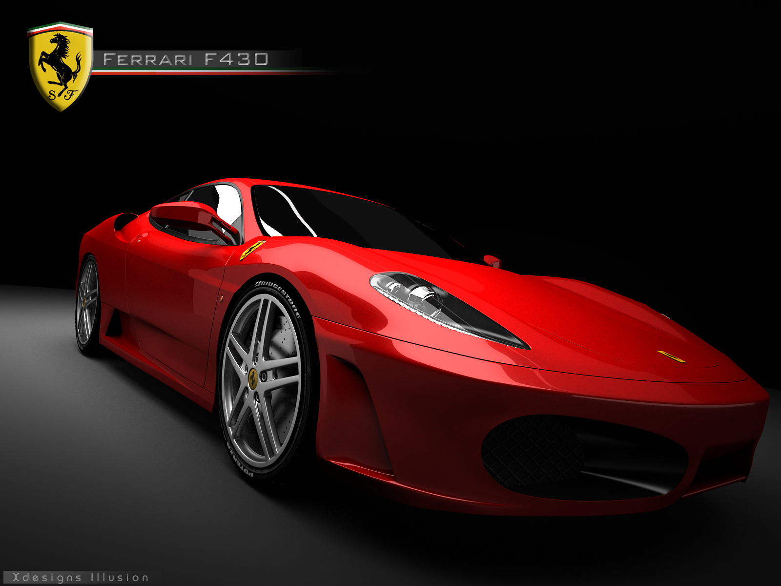 Red Ferrari F430 Wallpapers #544 Wallpaper