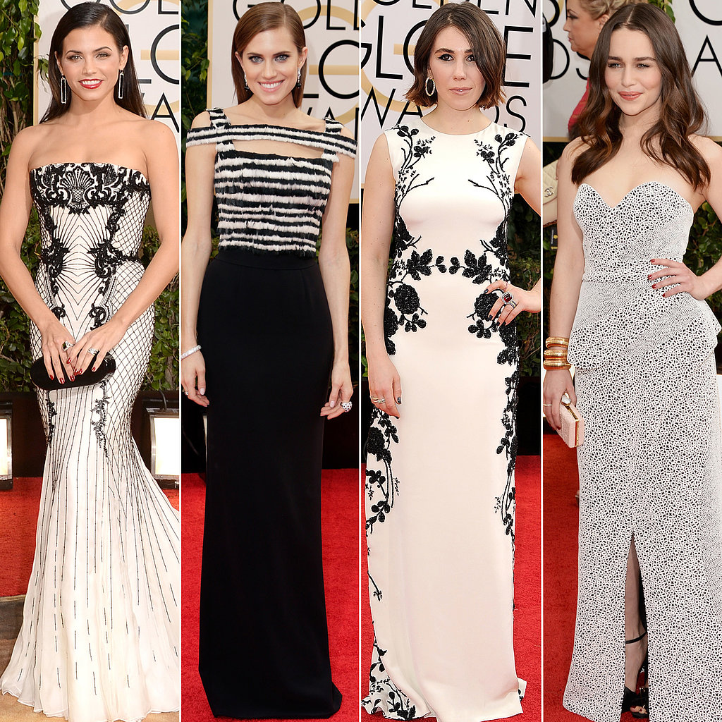 Black and White Dresses at Golden Globes 2014