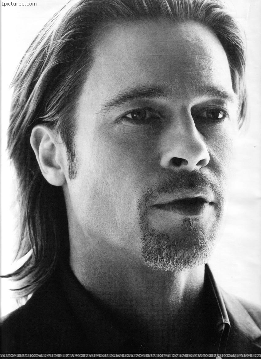 Sexy Brad Pitt face photoshoot portrait