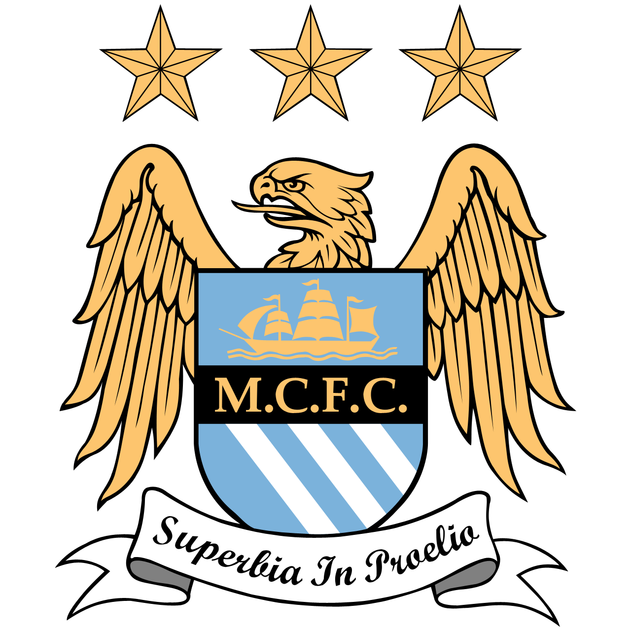 Barclays Premier League Logos moto Superbia in Proelia