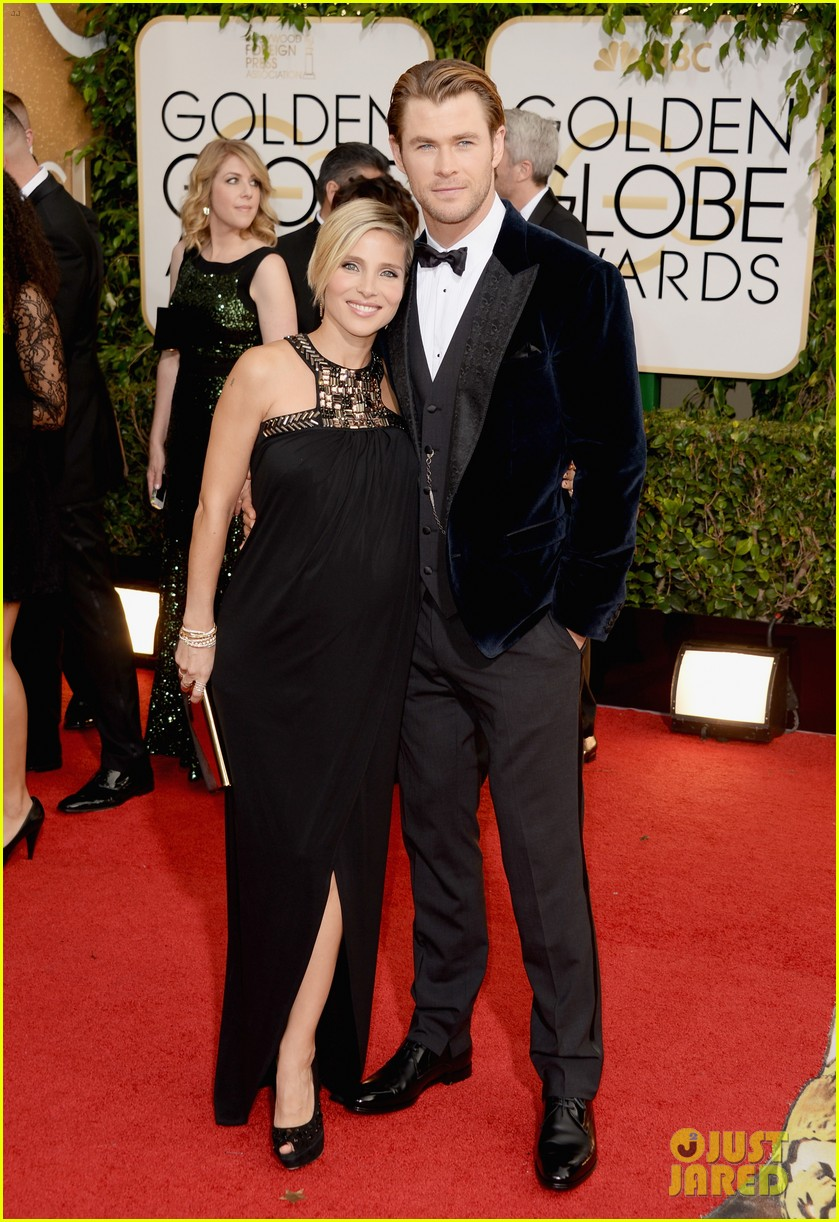 Chris Hemsworth & Elsa Pataky Golden Globes 2014 Red Carpet
