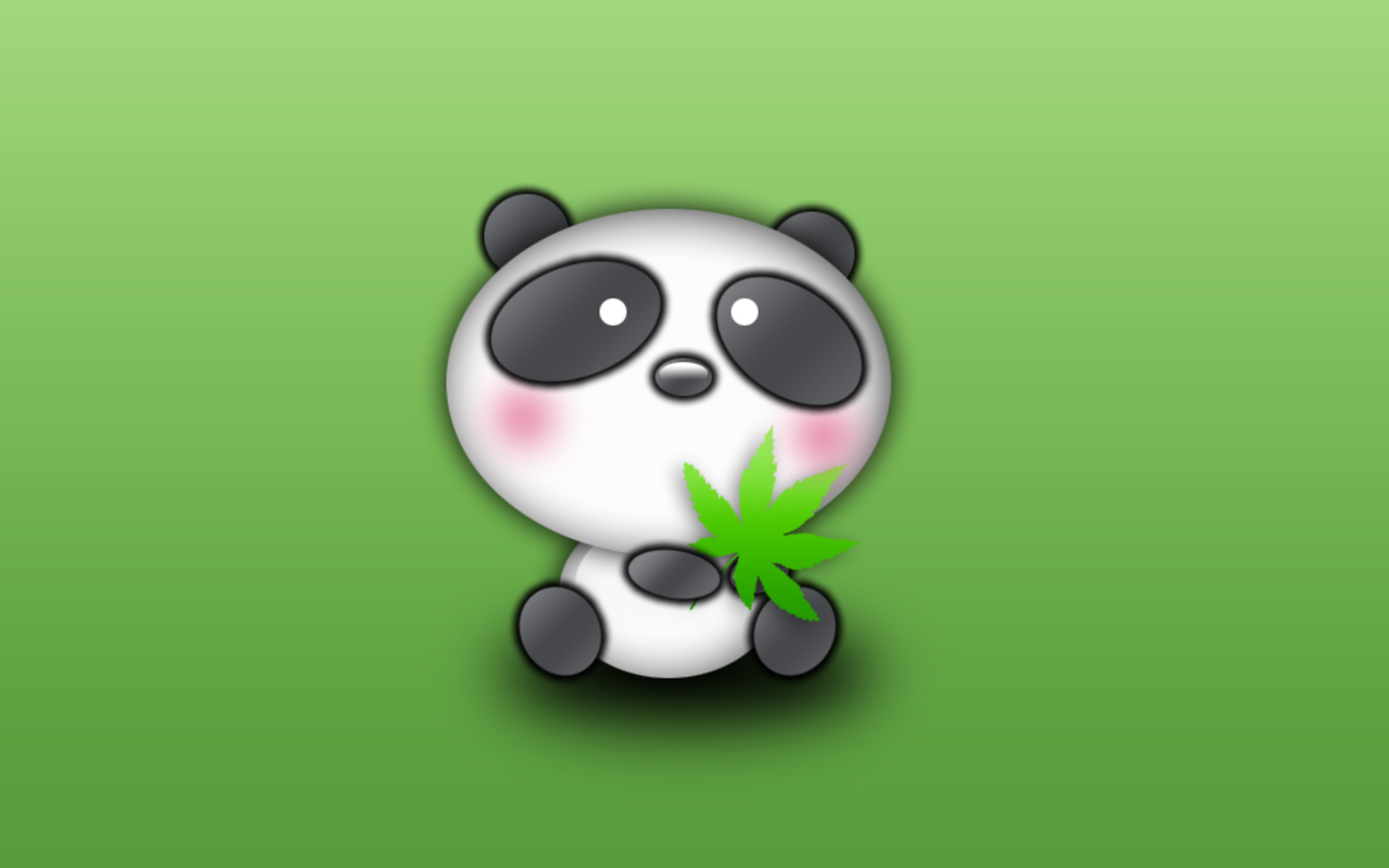 Cute Panda Cartoon Wallpaper
