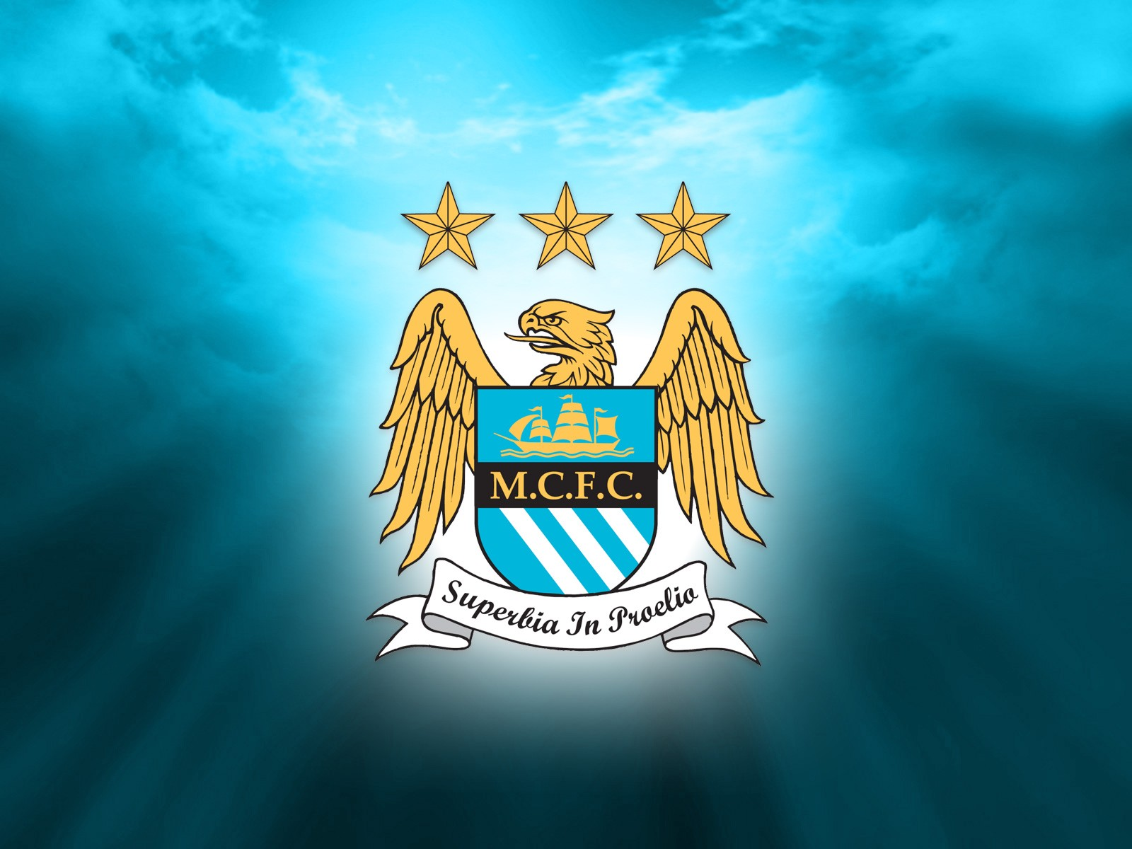 New Manchester City Logo HD Wallpaper