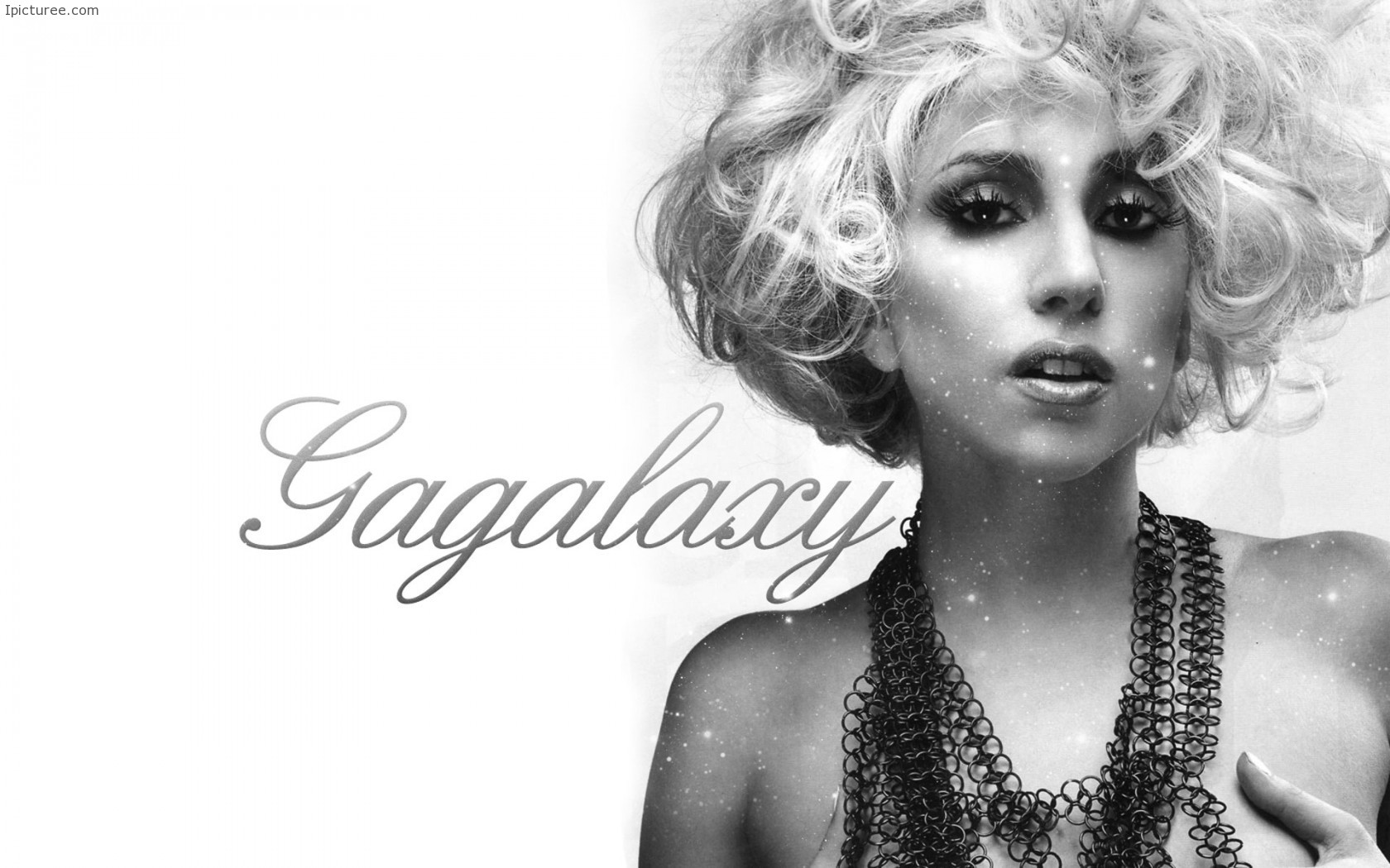 Lady Gaga Black and White Wallpaper