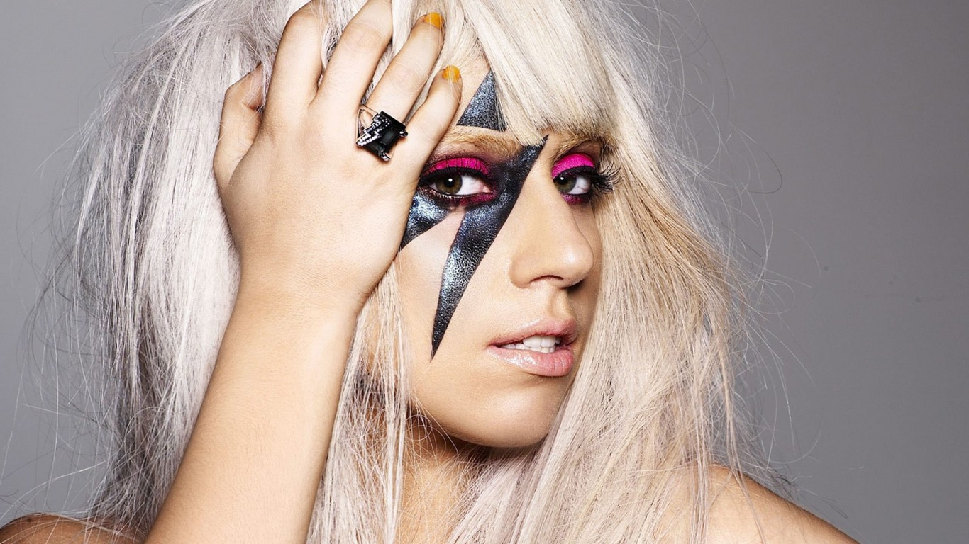 Lady Gaga Close-up Wallpaper
