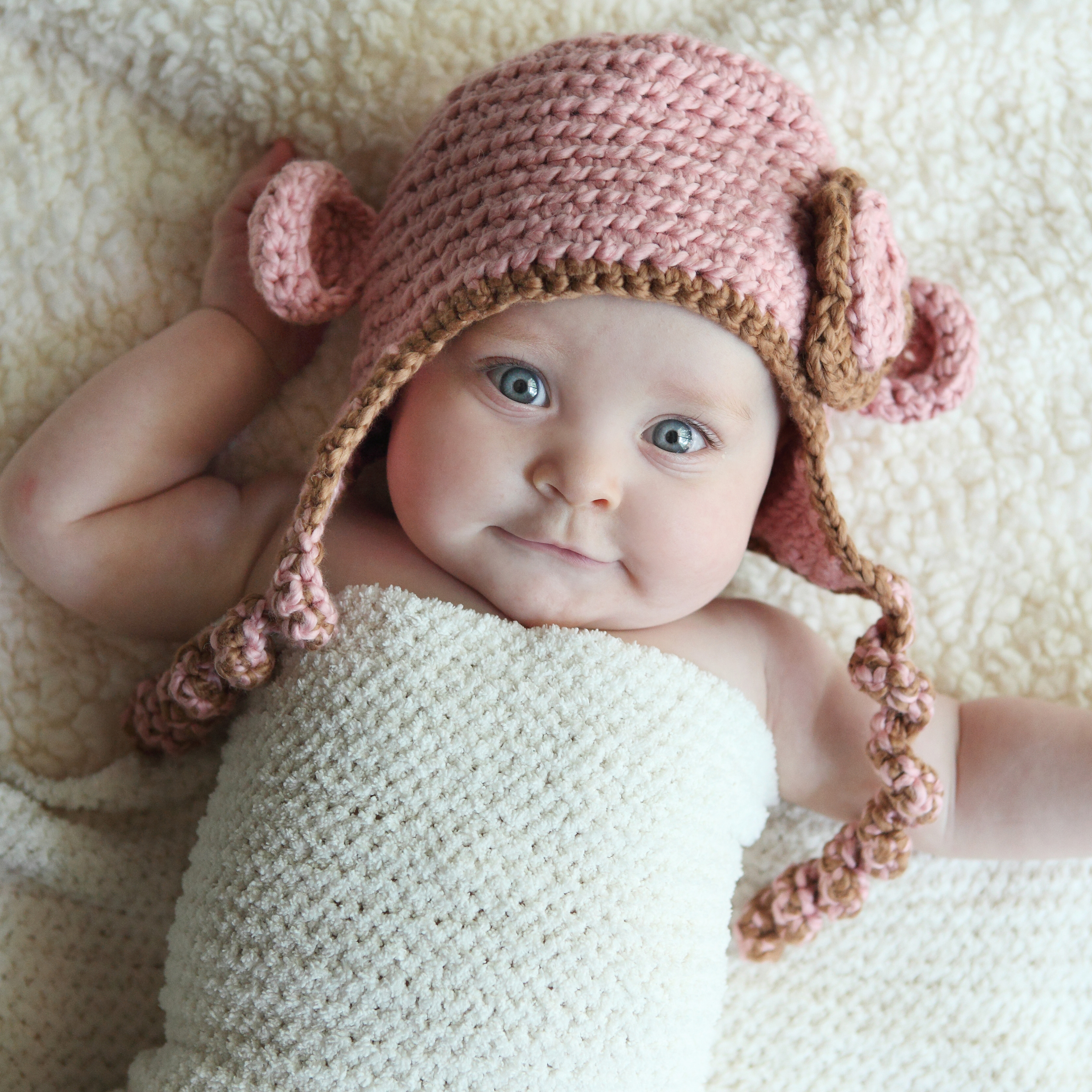 cute baby with blue eyes