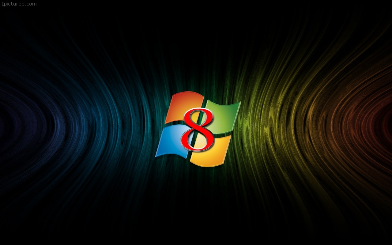 Download Windows 8 Background: Windows 8 Central Logo Wallpaper