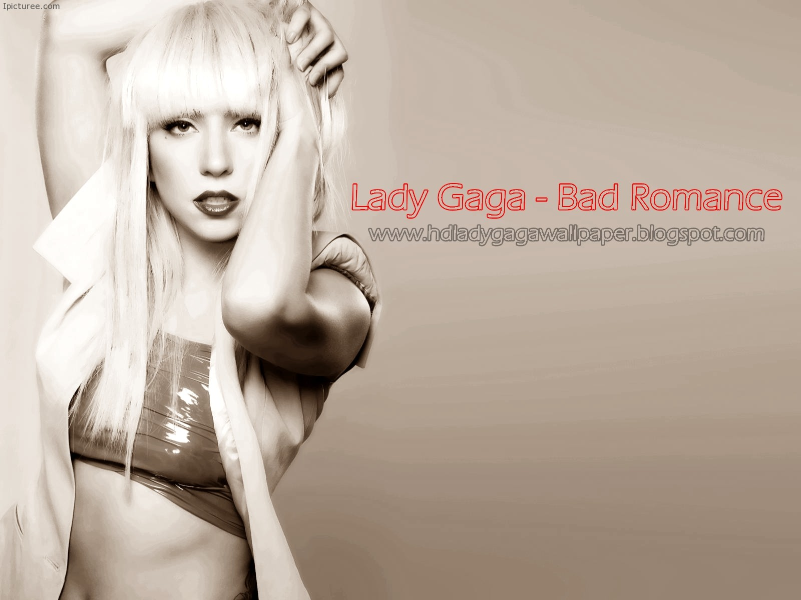 Lady Gaga – Bad Romance Lyrics And Wallpaper