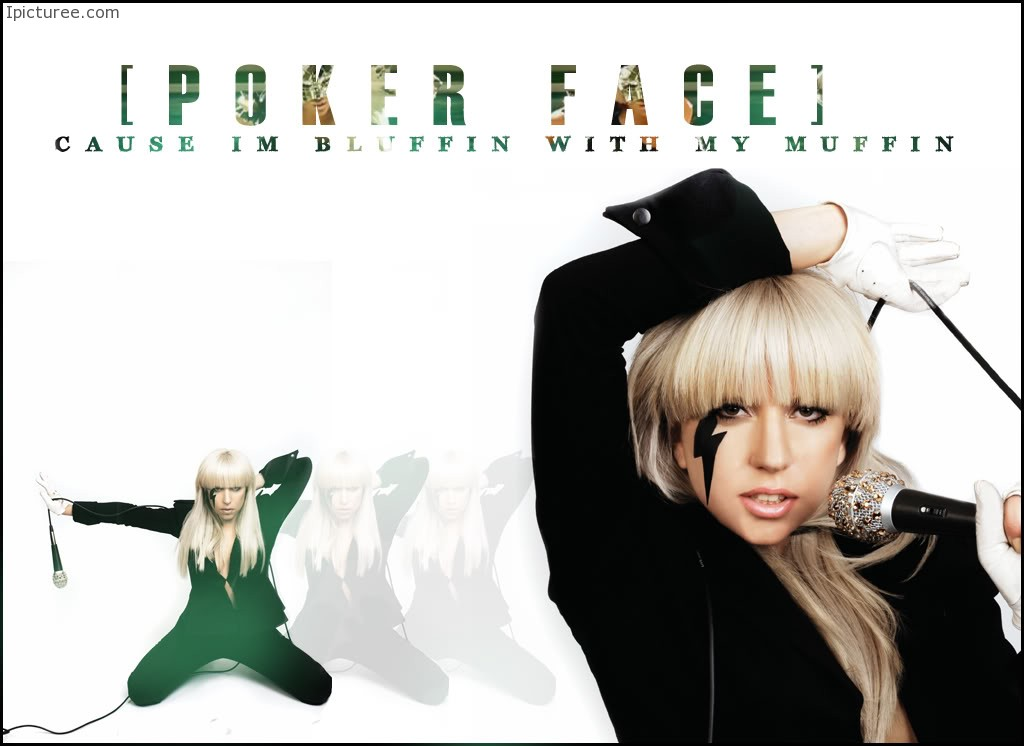 Lady Gaga Poker Face Wallpaper