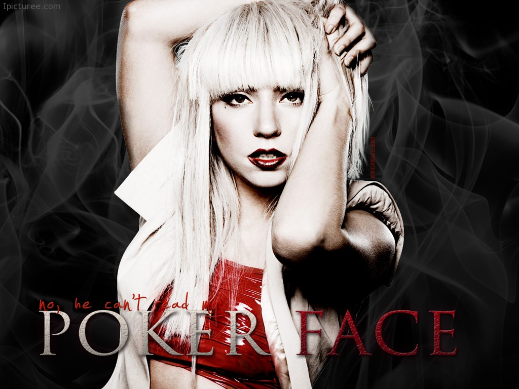 Poker Face Lady Gaga wallpaper HD