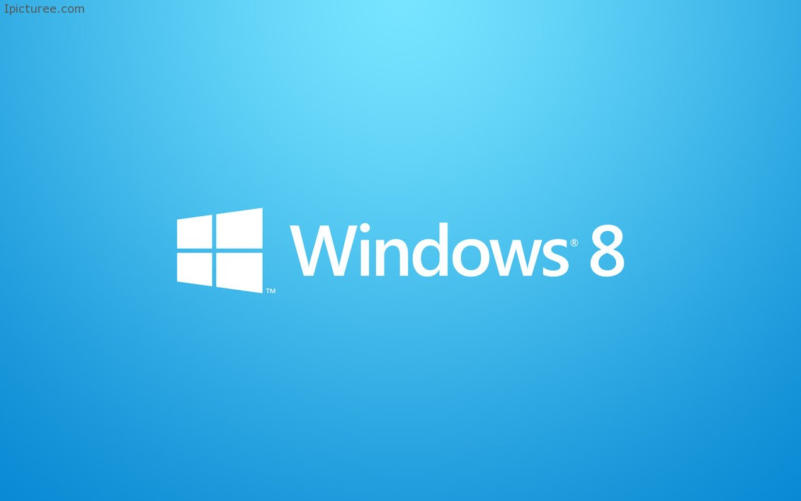 Light Blue Windows 8 Logo Wallpaper