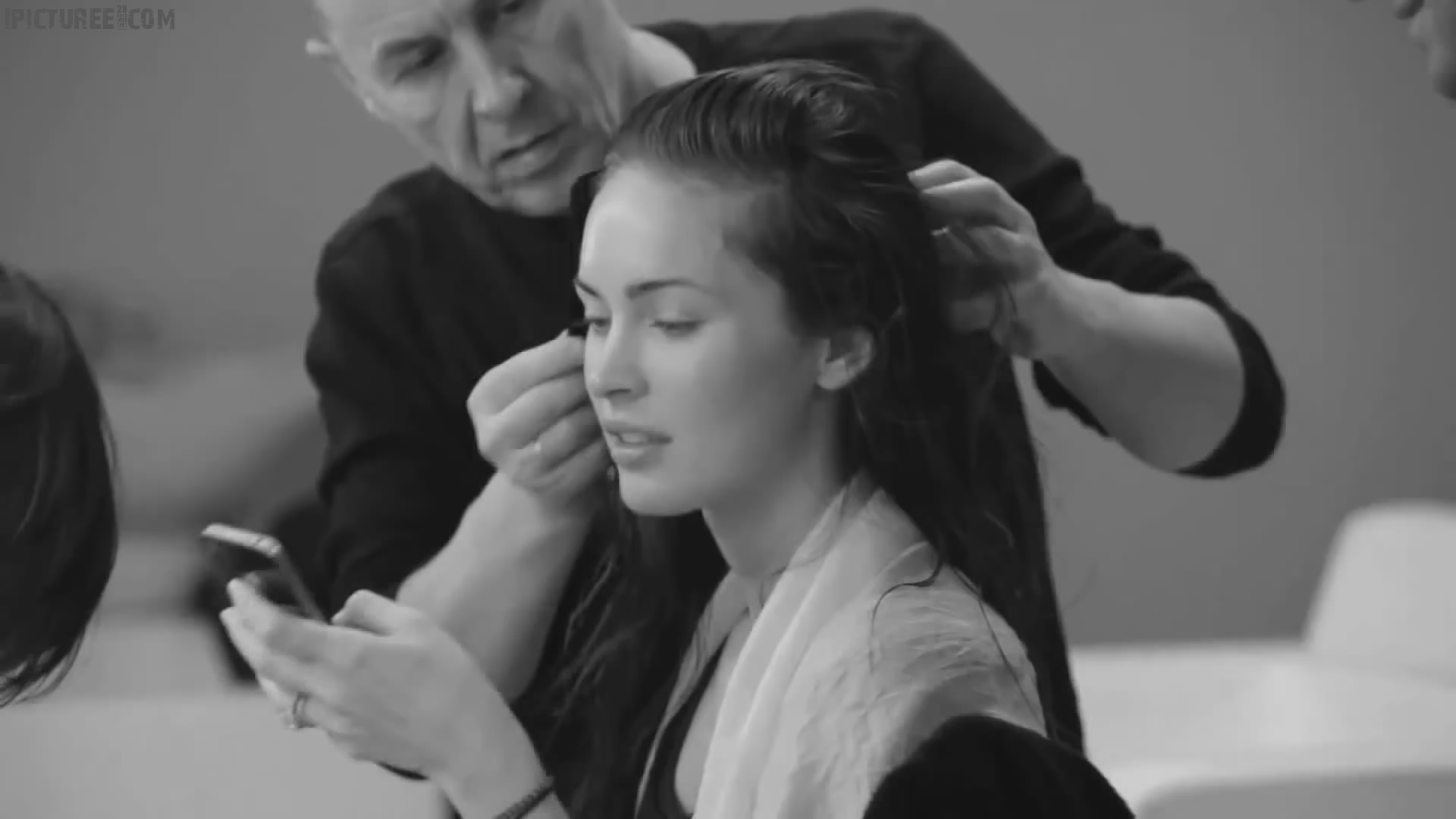 Megan Fox Getting ready for Armani Photo Shoot