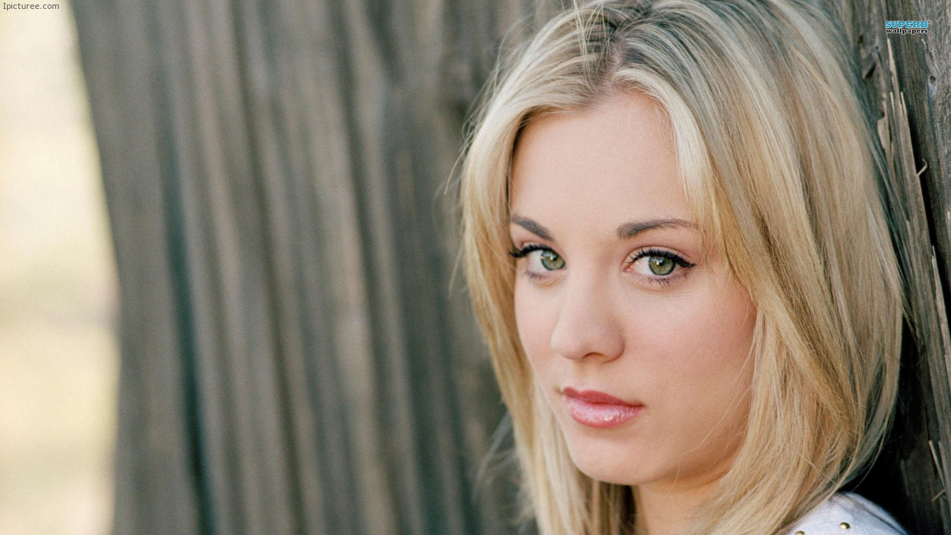 Kaley Cuoco Looking Serious