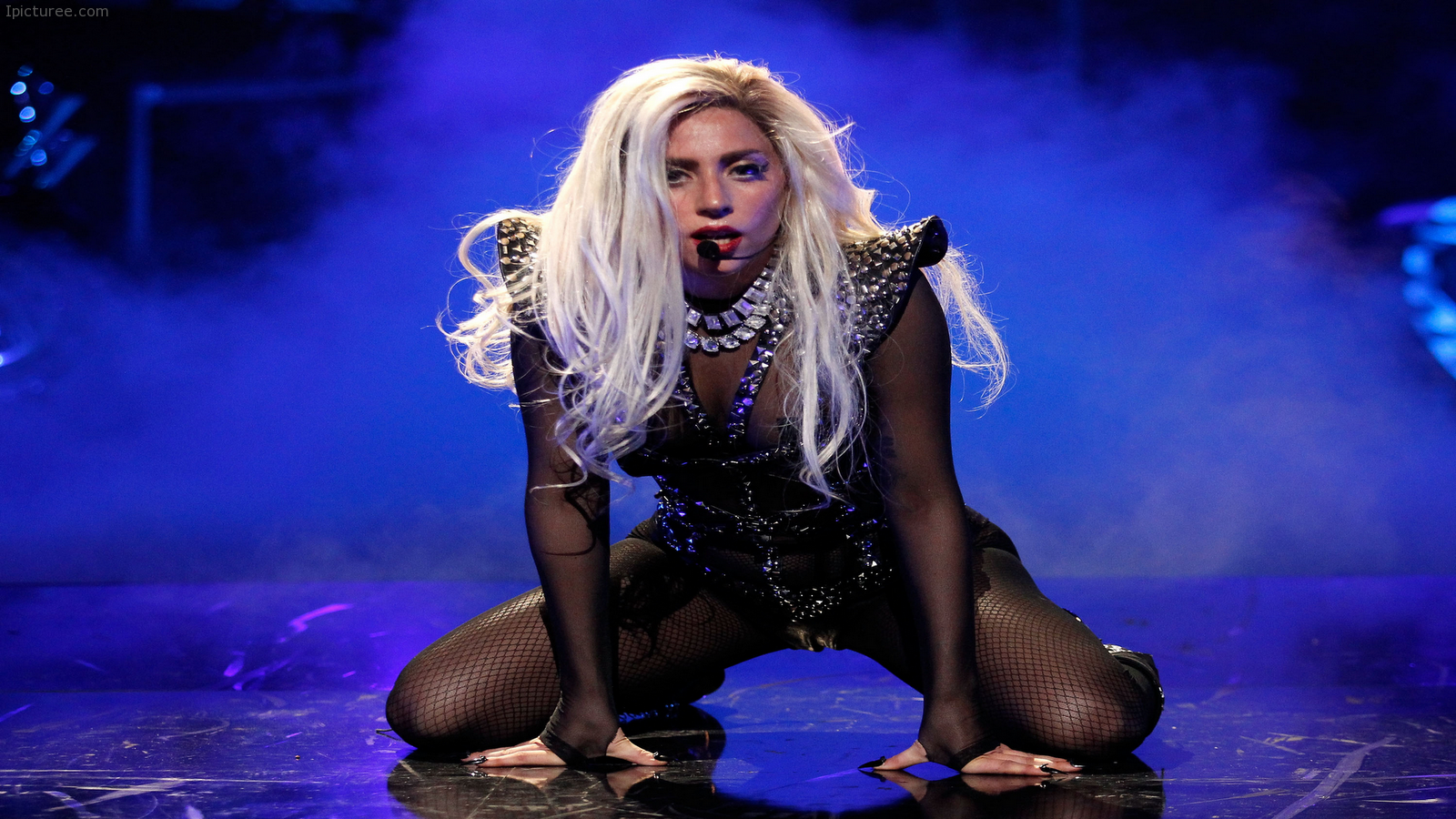 Lady Gaga Live Concert Performance Wallpaper