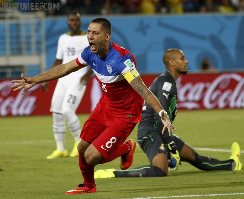Clint Dempsey World Cup 2014 match against Ghana at the Dunas arena