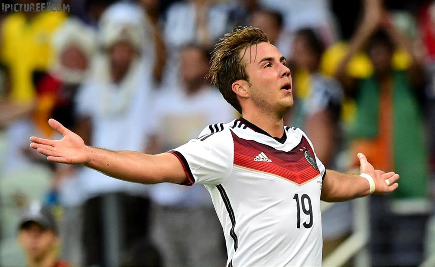 Mario Gotze Germany Celebrates Goal at World Cup 2014