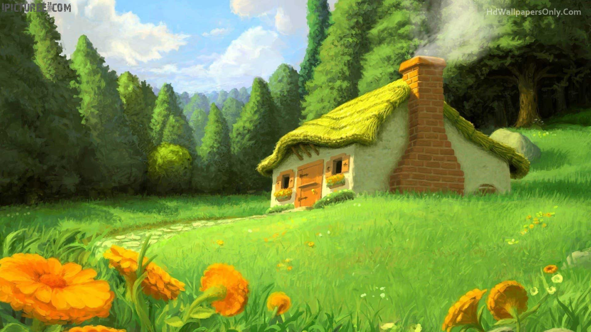 Beautiful House in the Garden Scenery Wallpapers HDHD Wallpapers Only