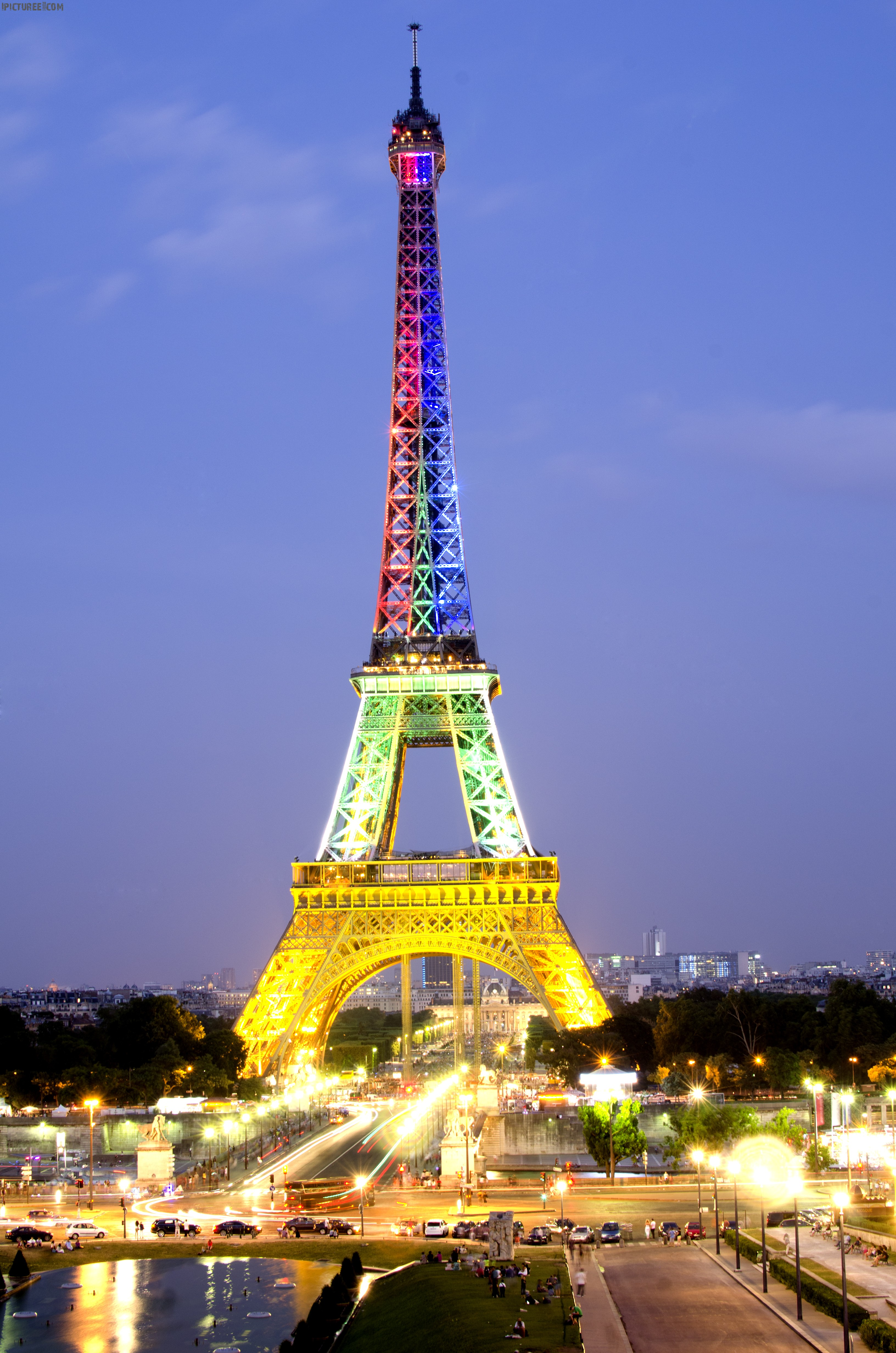 Eiffel Tower with Lights Glowing