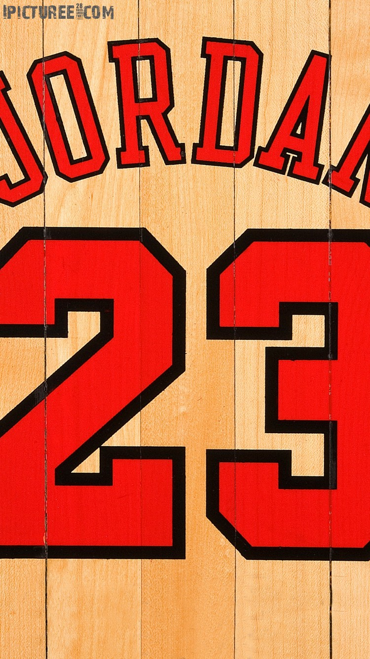 Download Michael Jordan Chicago Bulls Number 23 iPhone 6 HD Wallpaper