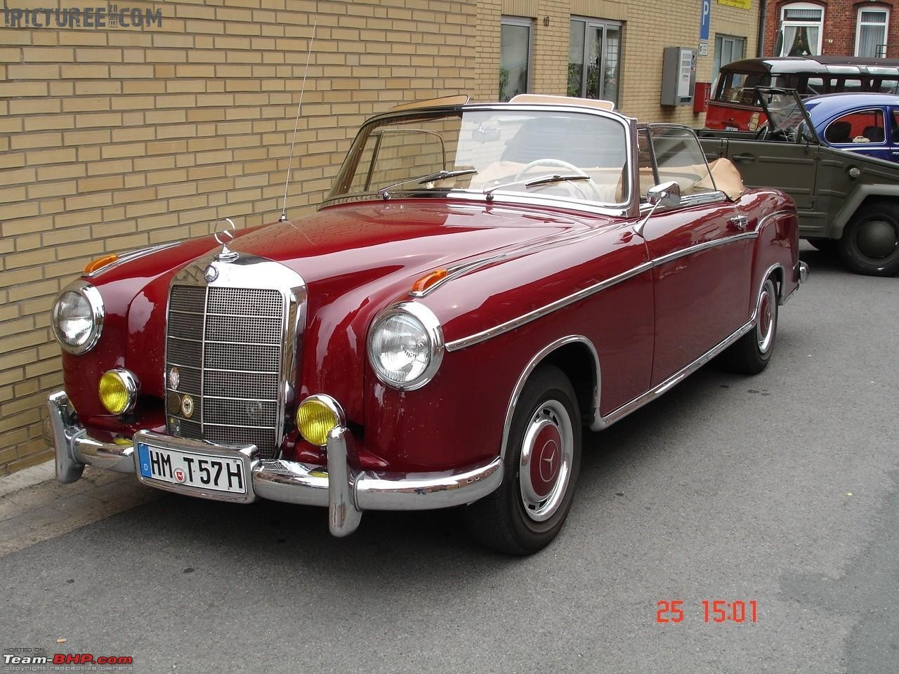 Vintage Mercedes Benz Red Color