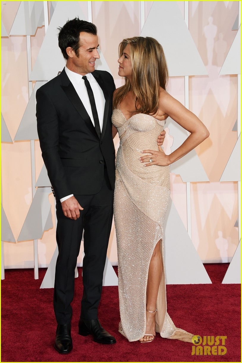 Jennifer Aniston and Justin Theroux – Oscars 2015