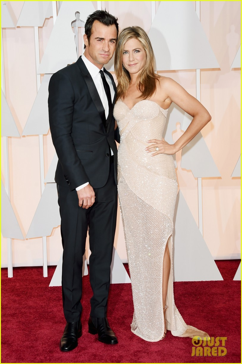 Jennifer Aniston & Justin Theroux at Oscars 2015