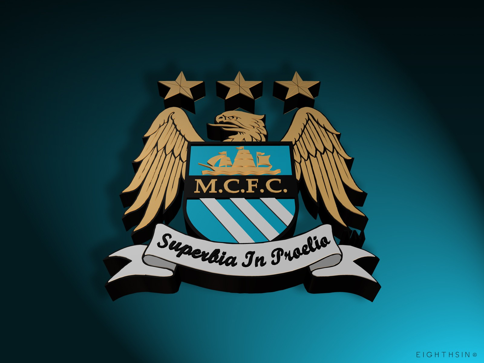 Manchester City Superbia In Proelia Wallpaper