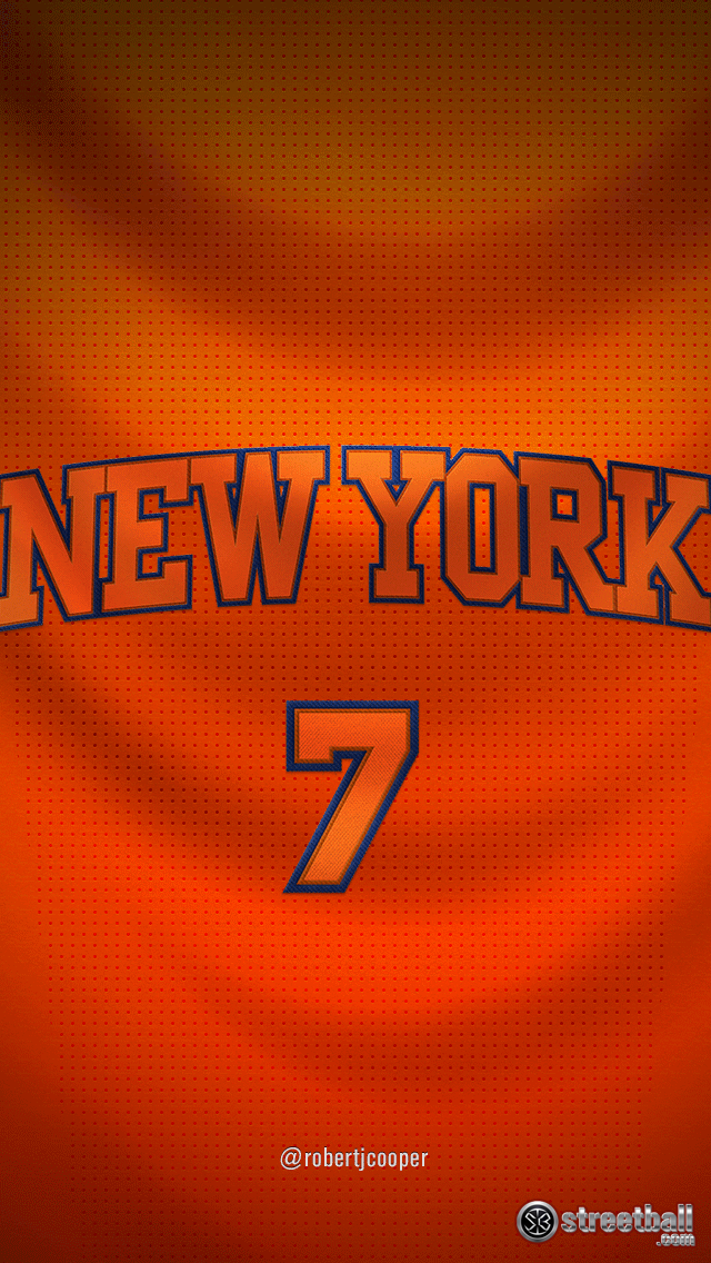 NBA New York Number 7 iPhone 6 Wallpaper