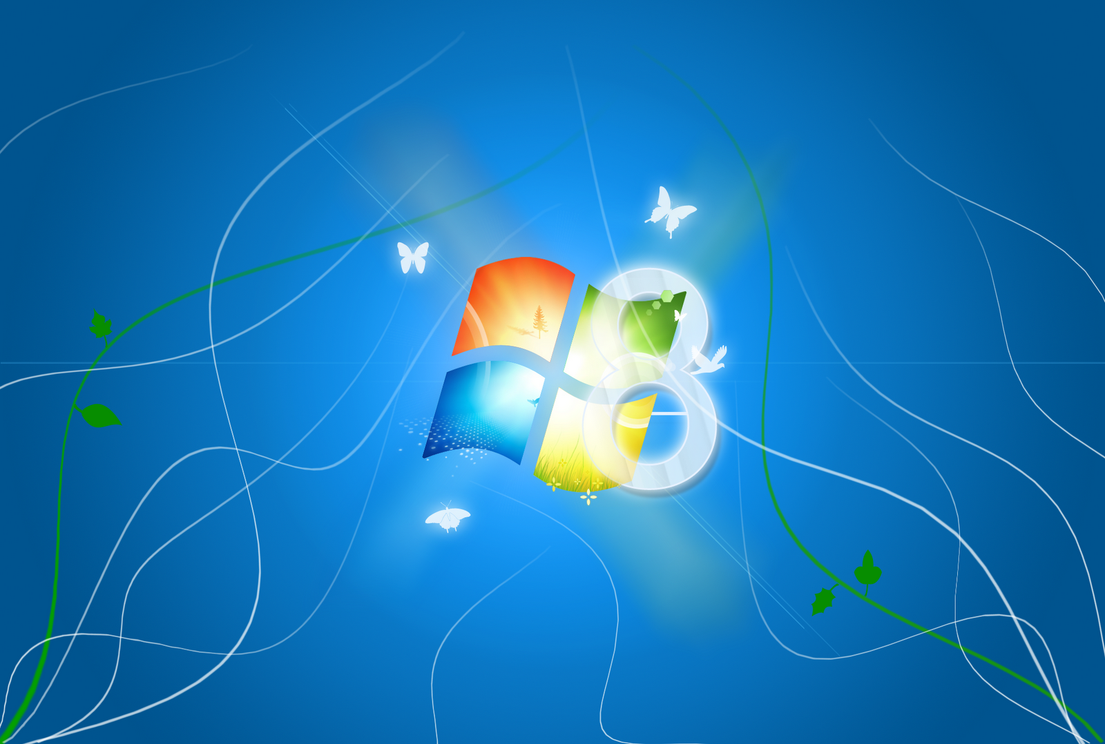 Windows 8 HD Logo Wallpaper