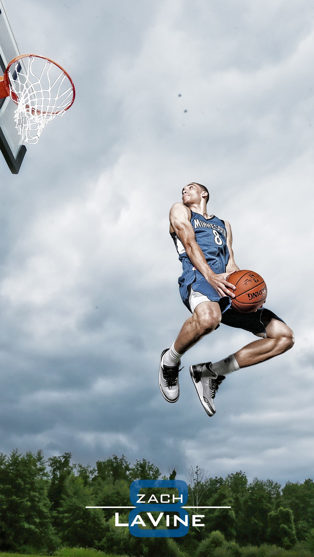 NBA Star Zach LaVine shoot Minnesota Timberwolves iPhone 6 Wallpaper