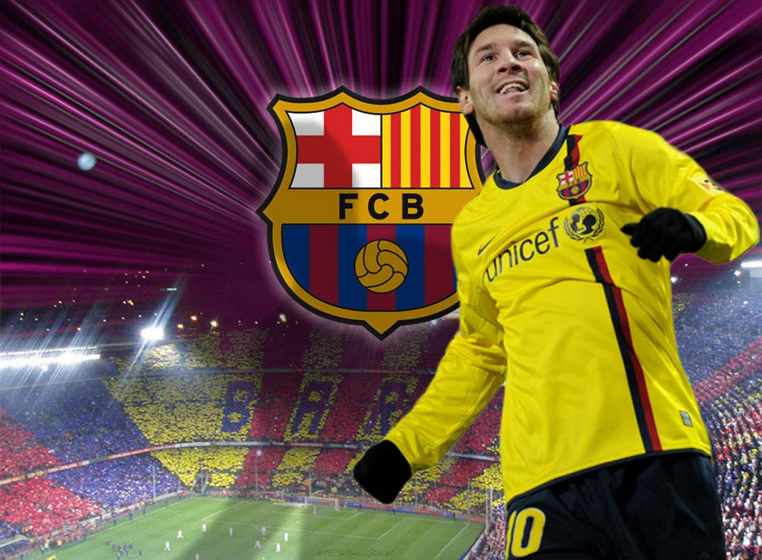 Fc Barcelona Lionel Messi Champions League Wallpaper