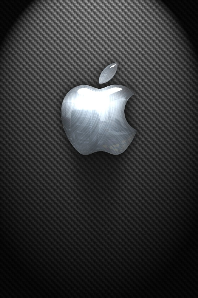 Silver Apple Logo iPhone 6 Wallpaper