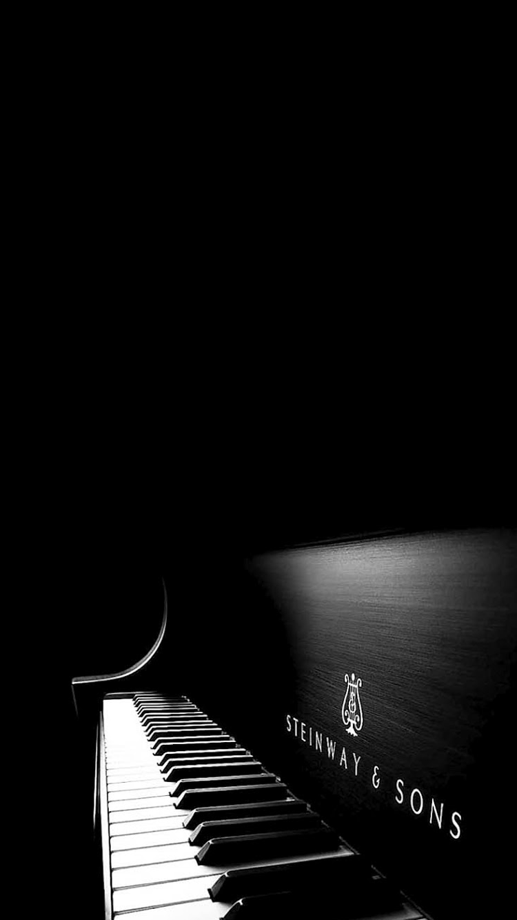 Black White Piano iPhone 6 Wallpaper
