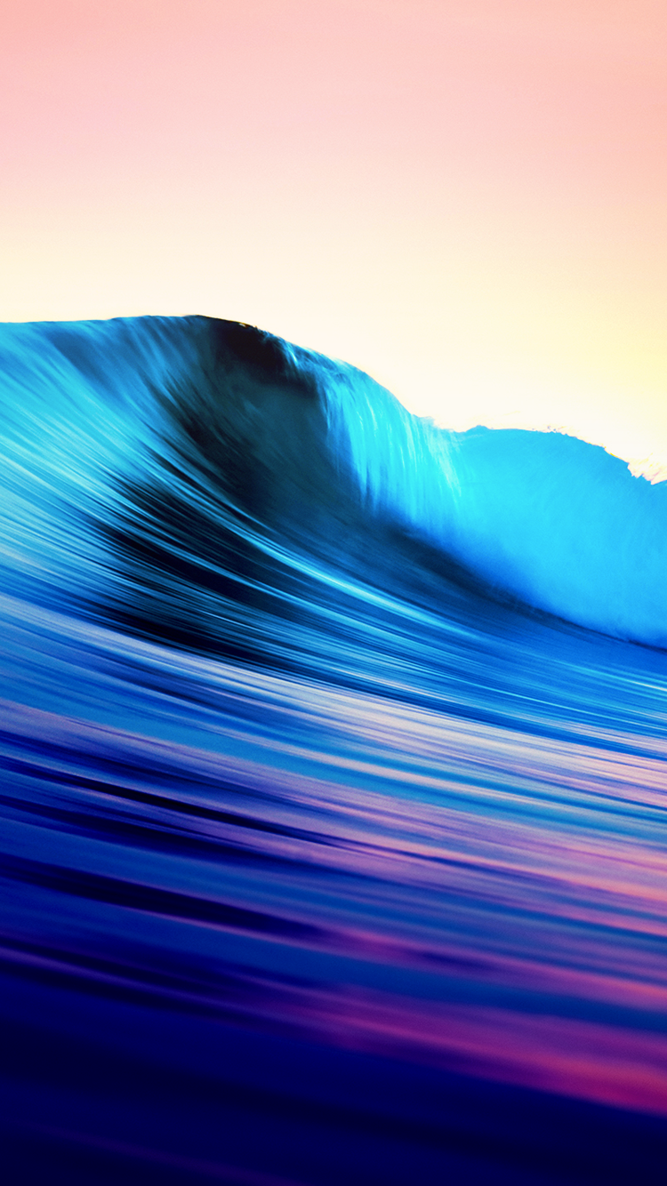 Colorful Ocean Wave iPhone 6 Wallpaper