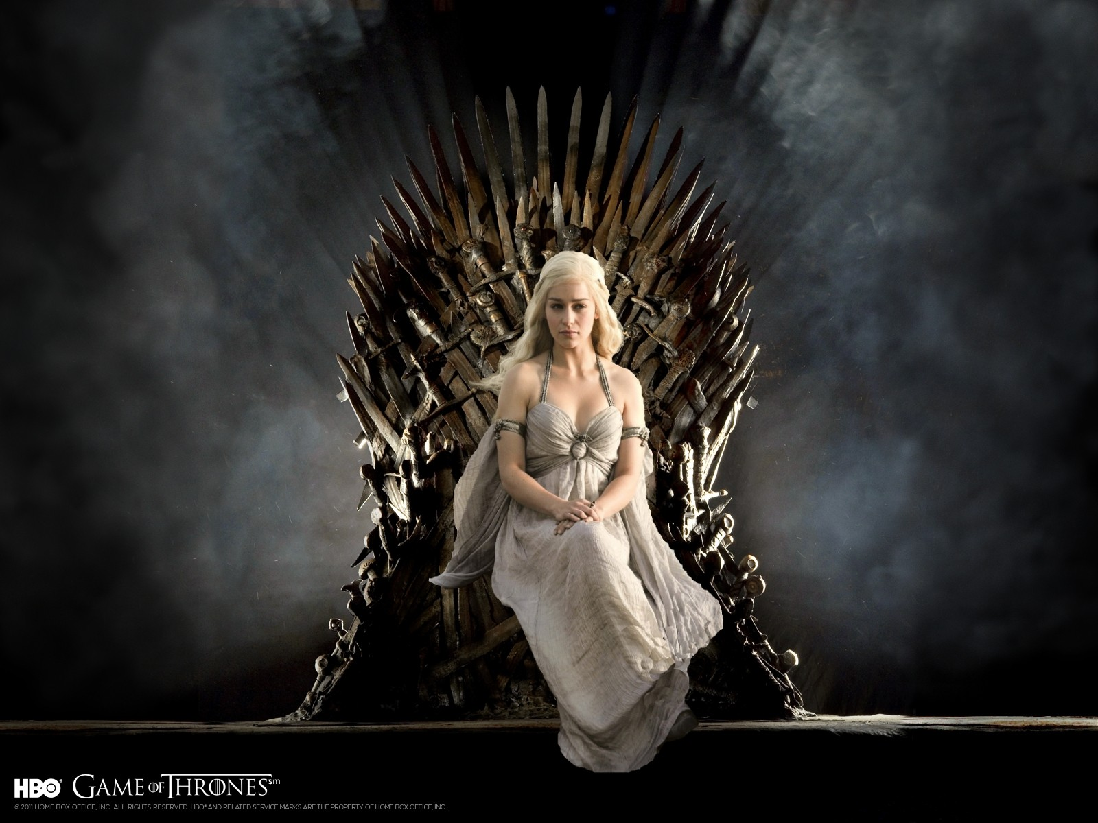 Daenerys Targaryen on Iron Throne Game of Thrones